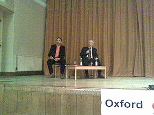 Robin Kelley - Robin Blackburn (right) after giving one of the Oxford Amnesty Lectures, with Robin Kelley (left) who was the chair for the event, 2010.