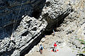 Rock climbing on the Cairn Formation at Grassi Lakes, Alberta..JPG
