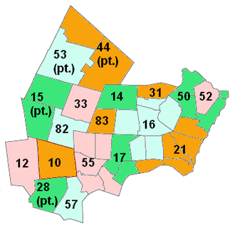 Rockingham County, New Hampshire - Map of school administrative units in Rockingham County