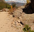 Rocky Mountain National Park in September 2011 - Lily Trail - grave.JPG