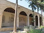 Rodi, museo archeologico, loggiato dei mosaici 02.JPG