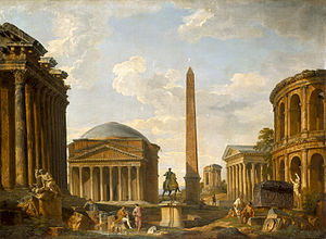 Giovanni Paolo Panini - Image: Roman Capriccio The Pantheon and Other Monuments by Giovanni Paolo Panini