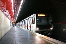 A Line A series MA 300 train at Vittorio Emanuele station