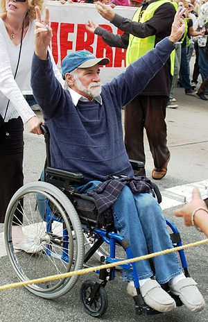 Ron Kovic - Ron Kovic at an anti-war rally in Los Angeles, California on October 12, 2007.