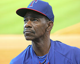 Ron Washington tosses baseball in Houston August 2014.jpg