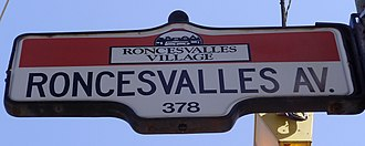Roncesvalles Avenue - Image: Roncesvalles Avenue Sign