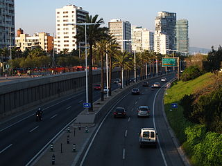 ring motorway around Barcelona