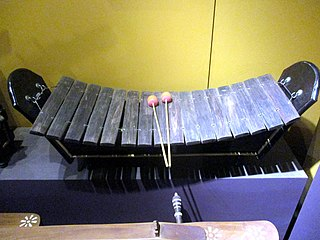 Roneat thung A low-pitched xylophone