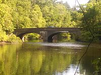 Route 135 West Street Dedham Avenue bridge, Needham MA.jpg