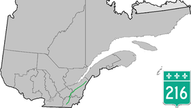Image illustrative de l'article Route 216 (Québec)