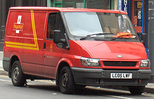 English: Royal Mail Ford Transit van (Septembe...