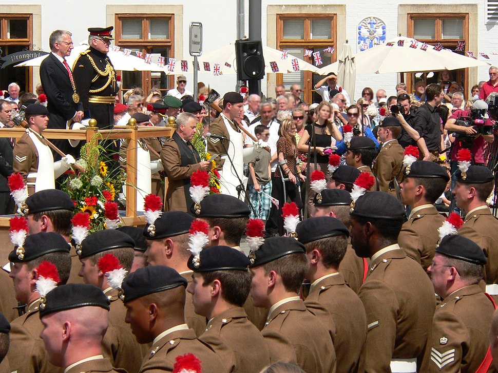Royal Regiment of Fusiliers Celle Abschied Rede