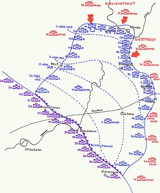 Operation Büffel - Phased withdrawal of the German 4th and 9th Armies from the Rzhev salient, 1–22 March 1943