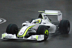 Rubens Barrichello driving for Brawn GP at the...