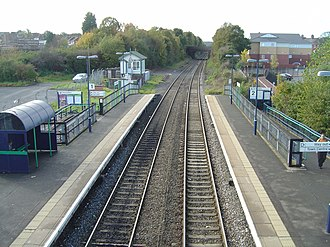 Rugeley Town railway station - Image: Rugeley Town station 2008 10 26