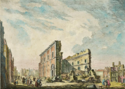 Jacques-Philippe Le Bas: Ruins of St. Paul's Church after the 1755 earthquake