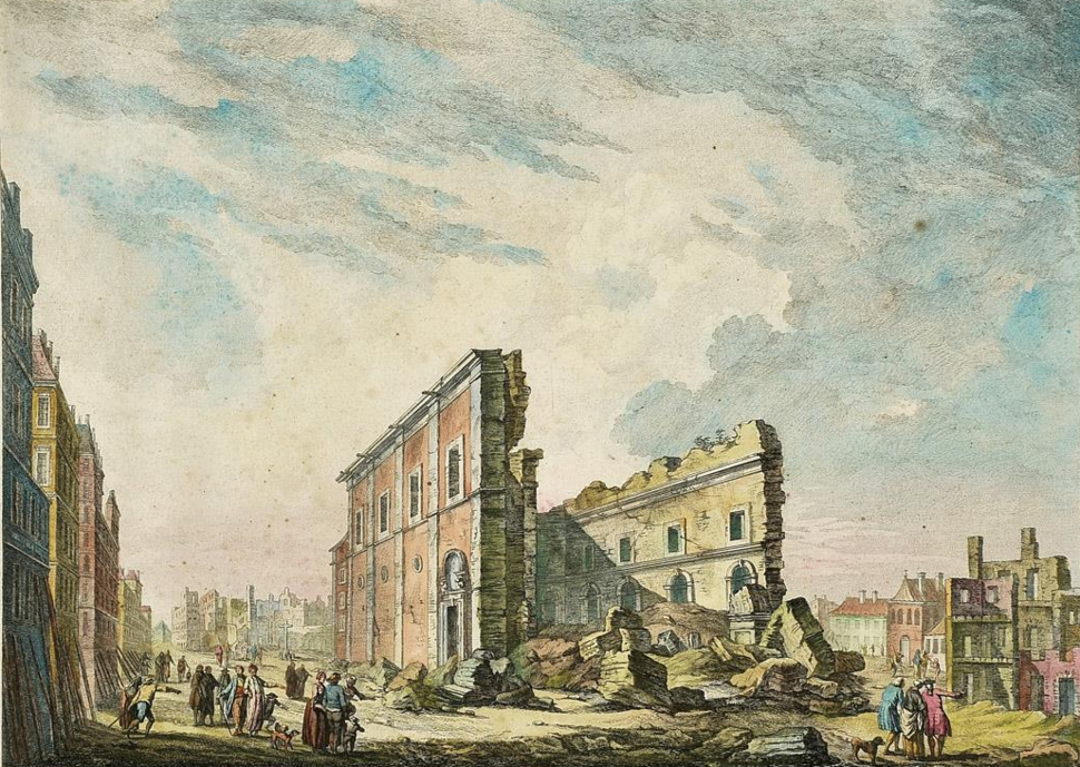 Ruinas da Igreja de S. Paulo ap%C3%B3s o Terramoto de 1755 - Jacques Philippe Le Bas, 1757