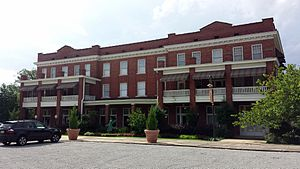 Brinkley, Arkansas - Rusher Hotel, the railroad hotel adjacent to the station