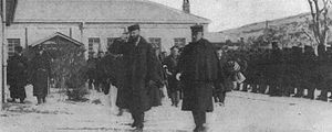 Ijichi Kōsuke - Russian Envoy Pavlov and Japanese General Ijichi in Seoul, 1904