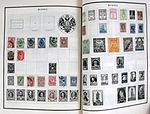 Russian postage stamps on album pages.jpg