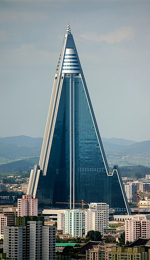 Ryugyong Hotel - The Ryugyong Hotel in August 2011