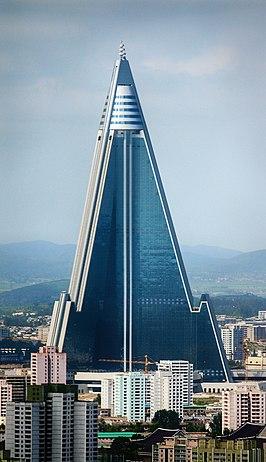 Het 330 meter hoge Ryugyonghotel heeft altijd leeggestaan