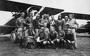 São Paulo aviation group in Campo de Marte September 1932