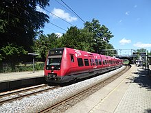 S-train line F at Grøndal Station 02.jpg