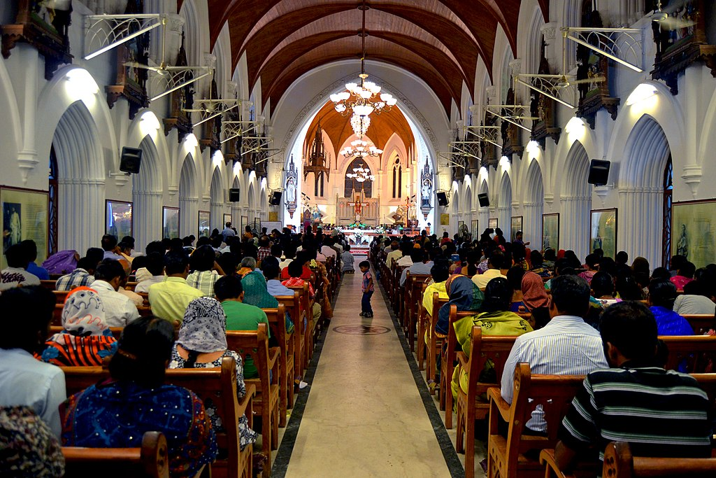 SANTHOME CATHEDRAL DURING MASS