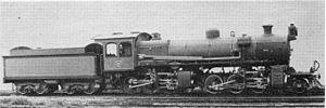 South African Class MJ 2-6-6-0 - SAR Class MJ no. 1651, c. 1914