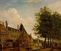 """SA 8422-De Kloveniersdoelen aan de Amstel-De Kloveniersburgwal op de hoek van de Amstel met de toren """"Swijgh Utrecht"""".jpg"""