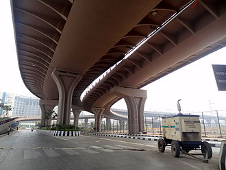 Sahar Elevated Access Road - View of SEAR