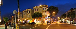 Haight-Ashbury - Cole Street, left, and Haight Street, right