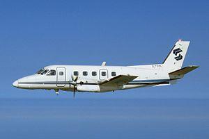 Embraer EMB 110 Bandeirante - Image: SKL in flight cropped (105091729)