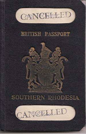 Rhodesian passport - Southern Rhodesia Passport prior to UDI