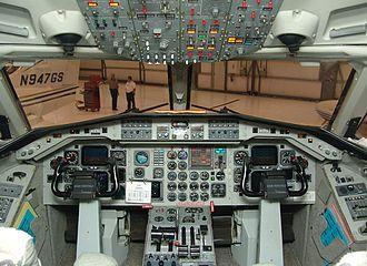 Saab 340 - Cockpit of a Saab 340, 2007