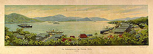 Weh Island - Painting of Sabang port in 1910