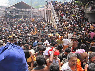 Makaravilakku - Devotees gather at Sabrimala sannidhanam to get glimpse of divya Makara Jyothi.