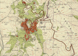 Carte Safed Survey of Palestine de 1942.png