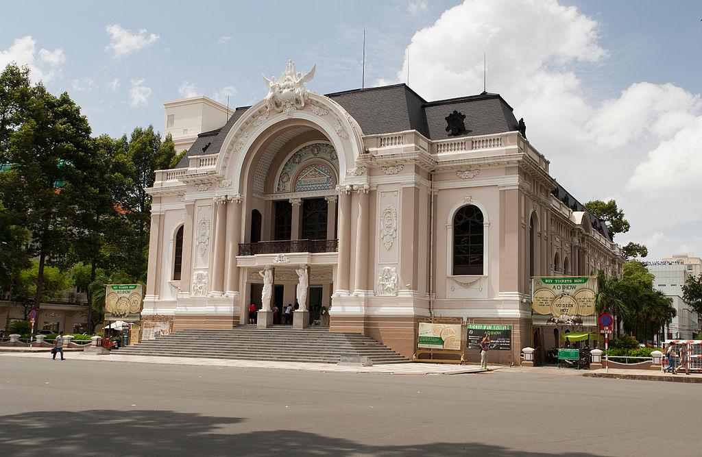 Outside Sai Gon opera house