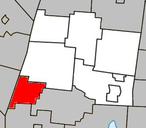 Saint-Alphonse-de-Granby, Quebec - Image: Saint Alphonse de Granby Quebec location diagram