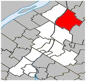 Saint-Denis-sur-Richelieu, Quebec - Image: Saint Denis sur Richelieu Quebec location diagram