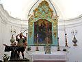 Saint-Jean-Cap-Ferrat - Chapelle Saint-Hospice - Choeur avec des représentations du martyre de saint Hospice.JPG