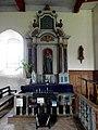 Saint-Léger-des-Prés (35) Église Retable de la Vierge 02.JPG