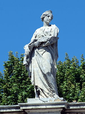 Saint Balbina - Statue of Saint Balbina, one of the 140 statues on the colonnade of St. Peter's Square.