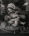 Saint Mary (the Blessed Virgin) with the Christ Child. Engra Wellcome V0034083.jpg