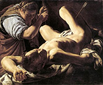 Saint Sebastian Tended by Saint Irene - Marco Antonio Bassetti, c. 1620