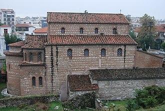Serres - View of the Byzantine Saints Theodoroi, the old Metropolis of the town