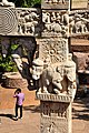 Salabhanjika and Elephants - West Face - North Pillar - East Gateway - Stupa 1 - Sanchi Hill 2013-02-21 4468.JPG
