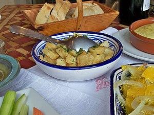Français : salade de panais du bistrot de pays...